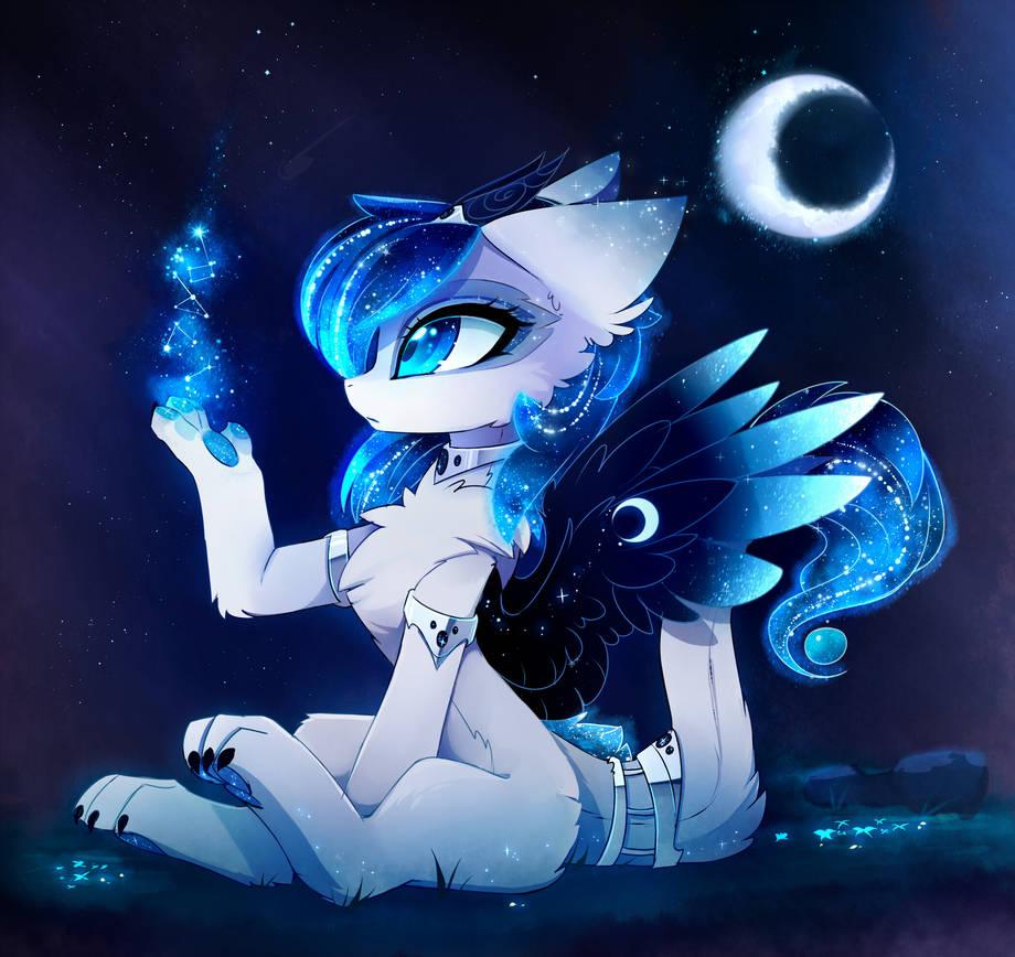 Moonlightwolfpup's Fursona Avatar