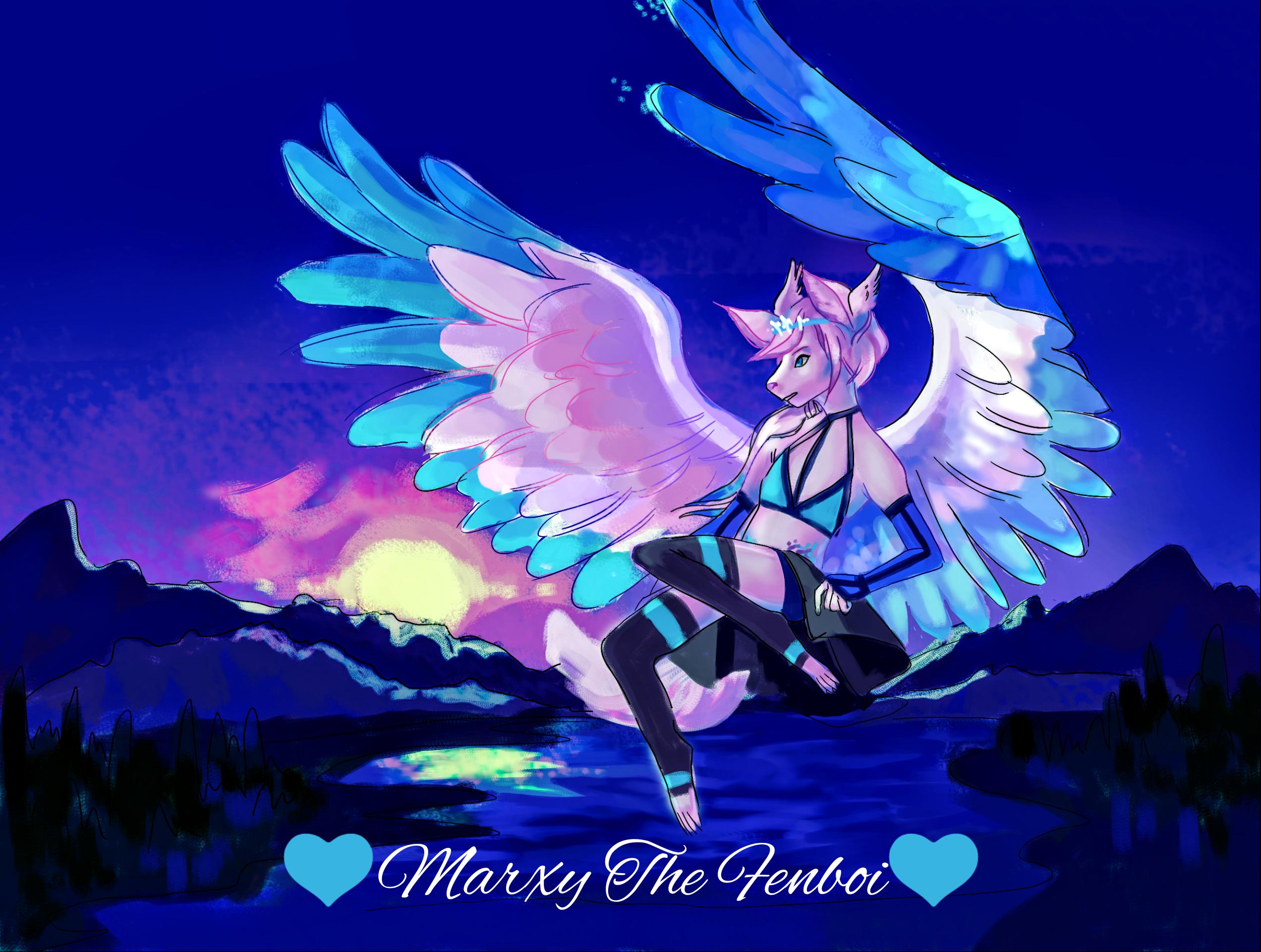 💙Marxy the fenboi 💙's Fursona Avatar